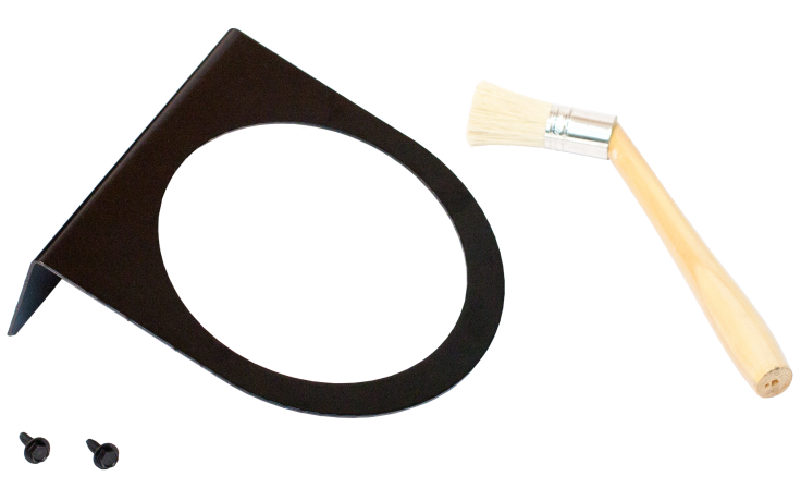 Tire Paste Lube Bucket Bracket & Brush
